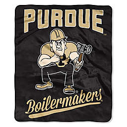 Purdue University Raschel Throw Blanket