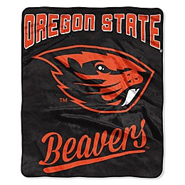 Oregon State University Raschel Throw Blanket