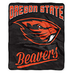 Oregon State University Raschel Throw Blanket