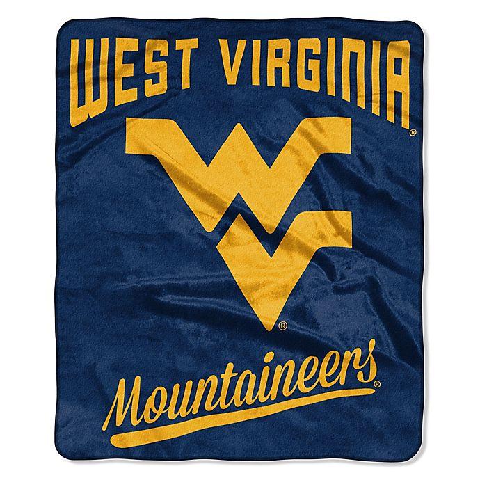 Alternate image 1 for West Virginia University Raschel Throw Blanket