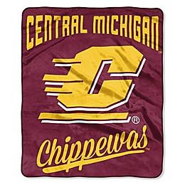 University of Central Michigan Raschel Throw Blanket