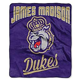 NCAA James Madison University Super Plush Raschel Throw Blanket