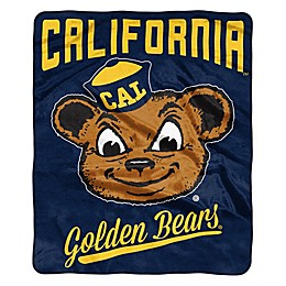 NCAA University California, Berkeley Super Plush Raschel Throw Blanket