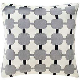 Safavieh Retro Square Throw Pillow in Grey