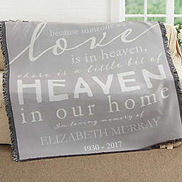 Heaven In Our Home Woven Throw Blanket