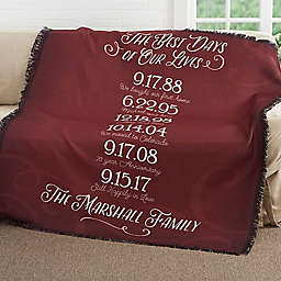 Our Best Days Family Woven Throw Blanket