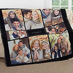 Photomontage Woven Throw Blanket