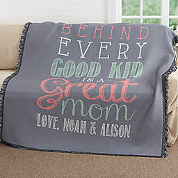 Loving Words To Her Woven Throw Blanket