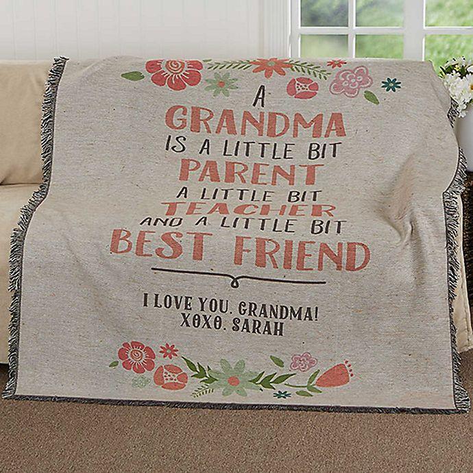Alternate image 1 for My Grandma, My Friend Woven Throw Blanket