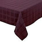 Origins™ Microfiber 60-Inch x 140-Inch Oblong Tablecloth in Eggplant