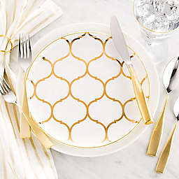 Nevaeh White® by Fitz and Floyd® Gold Lattice Dinnerware Collection
