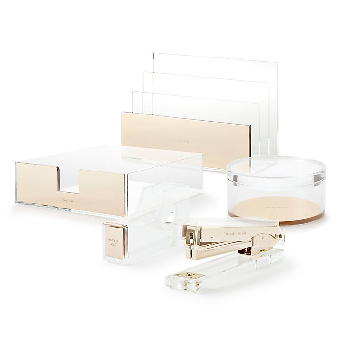 Alternate image 1 for kate spade new york Strike Gold™ Desk Accessory Collection