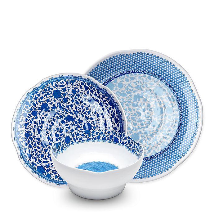 Alternate image 1 for Q Squared Heritage Melamine 12-Piece Dinnerware Set