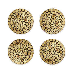 Charge It by Jay Wooden Discs Charger Plates in Natural (Set of 4)