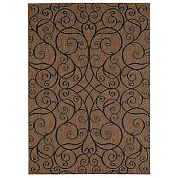 Balta Home Bayonne Indoor/Outdoor Area Rug in Black/Brown