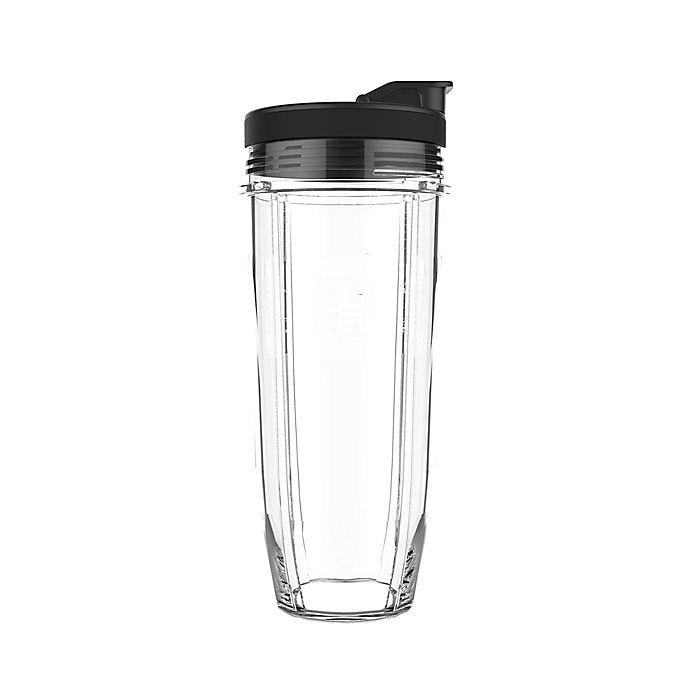 2459a44cb30 Nutri Ninja® Tritan™ 32 oz. Clear Cup with Spout Lid in Black