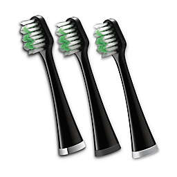 Waterpik® Complete Care 5.0 3-Pack Replacement Brush Heads in Black