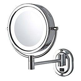 Jerdon 5X-1X LED Wall Mount Mirror