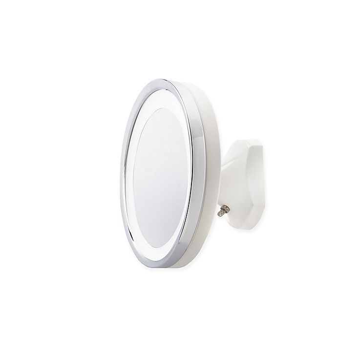 Alternate image 1 for Jerdon 5X LED Direct Wire Wall Mount Mirror