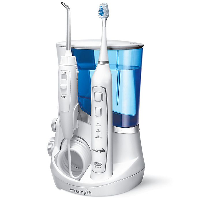 Alternate image 1 for Waterpik® Complete Care 5.0 Flosser + Sonic Toothbrush System in White