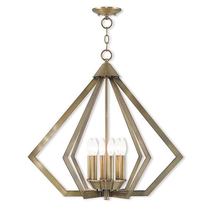 Alternate image 1 for Livex Lighting® Prism 6-Light Ceiling-Mount Chandelier