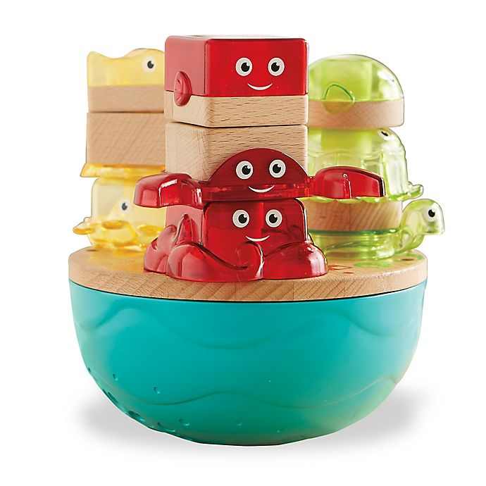 Alternate image 1 for Fisher-Price® Wooden Toys Deep Blue Sea Stacker
