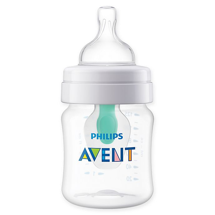 Alternate image 1 for Philips Avent 4 oz. Wide-Neck Anti-Colic Bottle with Insert