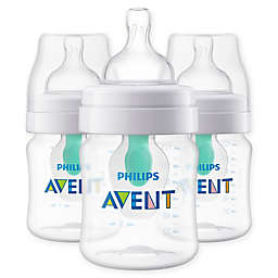 Philips Avent 3-Pack 4 oz. Wide-Neck Anti-Colic Bottle with Insert