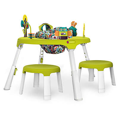 Oribel PortaPlay™ Plus Forest Friends 4-in-1 Foldable Activity Center with Stools in Green