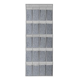 Farberware® Millennium 24-Pocket Over-the-Door Shoe Organizer in Grey