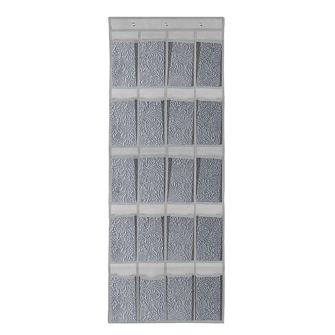 Alternate image 1 for Farberware® Millennium 24-Pocket Over-the-Door Shoe Organizer in Grey
