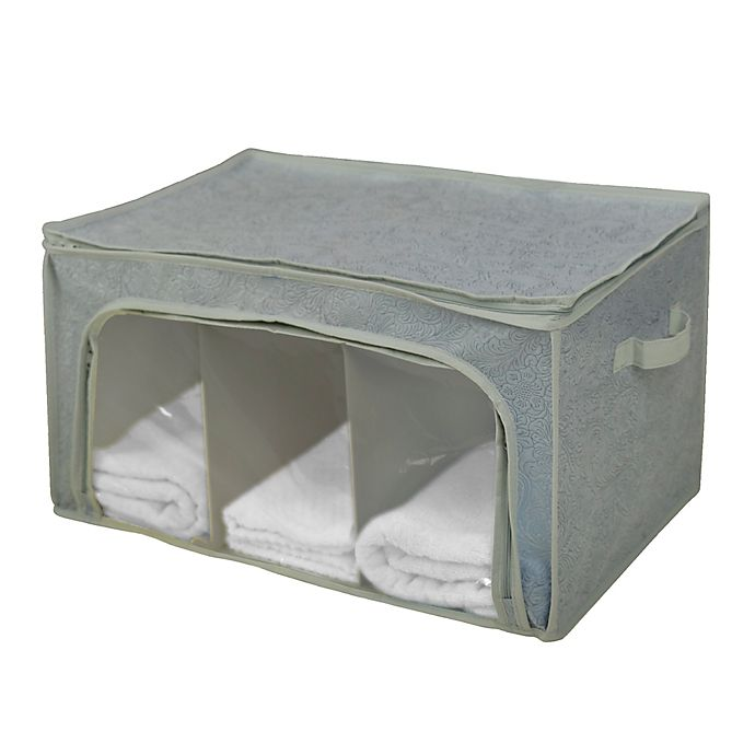Alternate image 1 for Farberware® Millennium Divided Storage Bag with Window in Grey (Set of 2)
