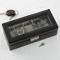 Special Dates Leather 5-Slot Watch Box