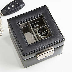 10 Quotes Leather 2-Slot Watch Box