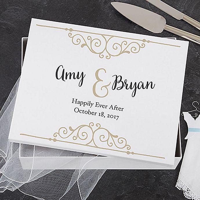 Alternate image 1 for Rustic Chic Wedding Keepsake Memory Box