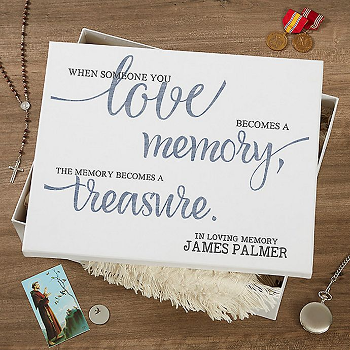Alternate image 1 for Memory Becomes A Treasure Keepsake Memory Box