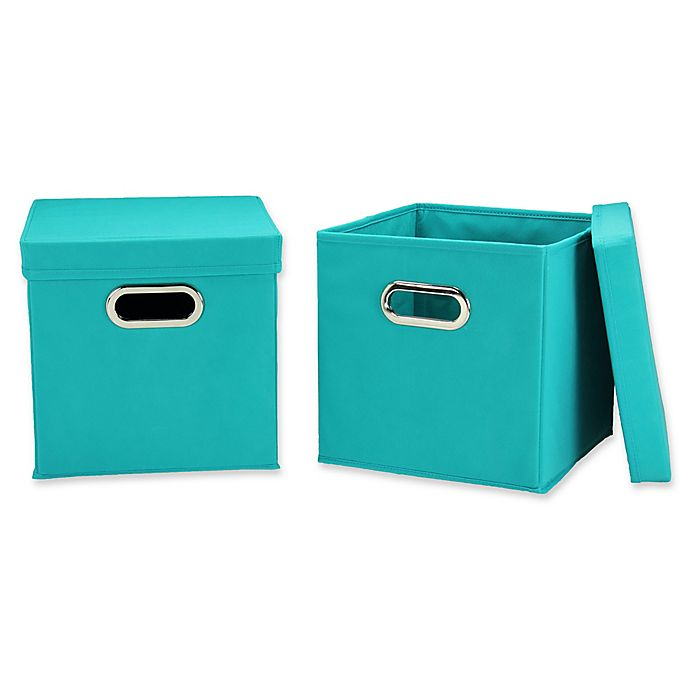 Alternate image 1 for Household Essentials® Collapsible Storage Cubes (Set of 2)