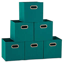 Household Essentials® Collapsible Fabric Storage Bins (Set of 6)