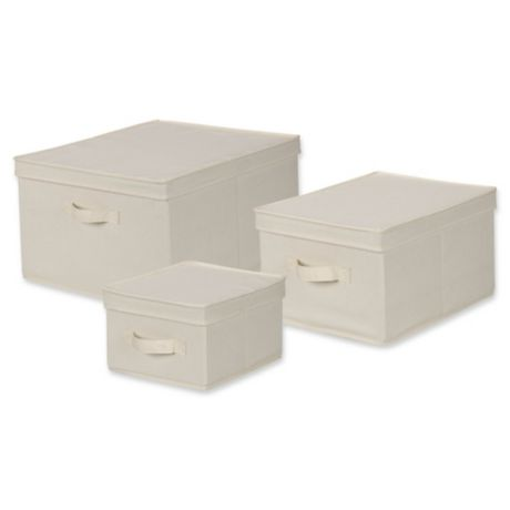 Household Essentials 174 Canvas Storage Box In Natural Bed
