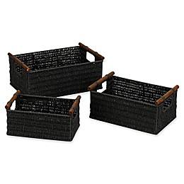 Household Essentials® Decorative Wicker Baskets (Set of 3)