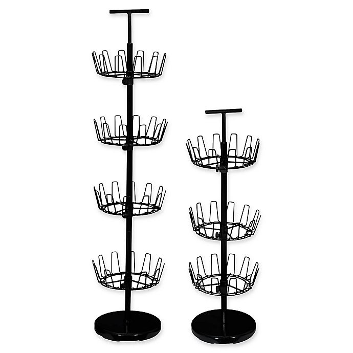 Alternate image 1 for Household Essentials® Tiered Revolving Shoe Tree in Black
