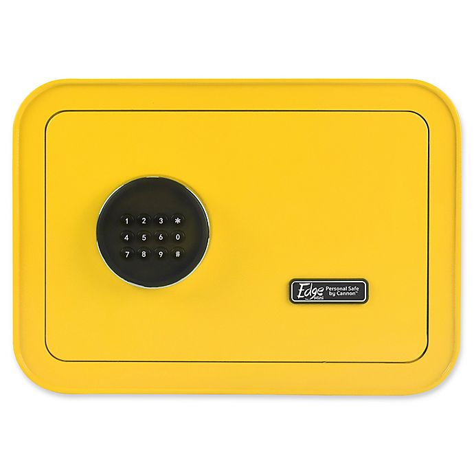 Alternate image 1 for The EDGE Mini Personal Safe by Cannon™ in Yellow