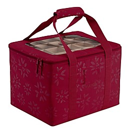 Classic Accessories® Seasons Ornament Organizer Storage Bin in Cranberry