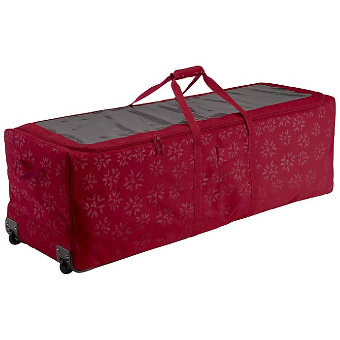 Alternate image 1 for Classic Accessories® Seasons Holiday Tree Rolling Storage Duffle in Cranberry
