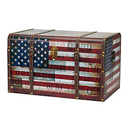 Household Essentials® Americana Decorative Home Storage Trunk