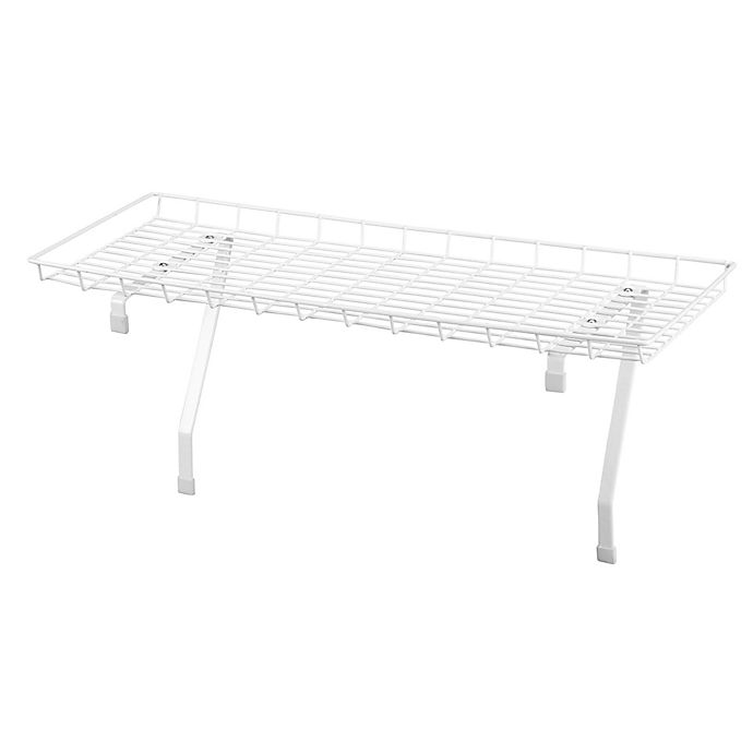 Alternate image 1 for Household Essentials® Over-The-Washer Laundry Shelf in White