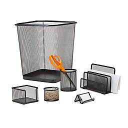 Mind Reader Mesh Desk Organizer Set in Black