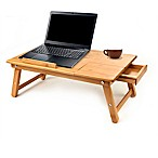 Mind Reader Cooling Adjustable Bamboo Laptop Bed Tray