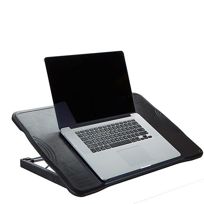 Alternate image 1 for Mind Reader Adjustable Foldable Laptop Table in Black