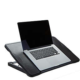 Mind Reader Adjustable Foldable Laptop Table in Black